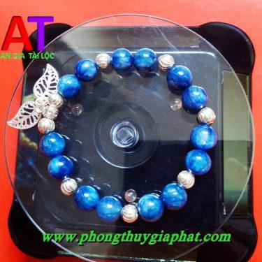 Vòng đeo tay phong thủy đá kyanite mix bạc