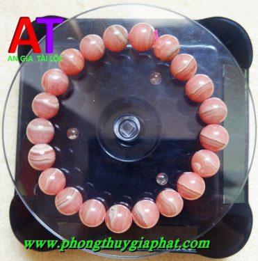 Vòng đeo tay đá đào hoa Rhodochrosite