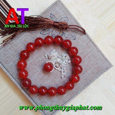 Vòng đeo tay đá mã não đỏ