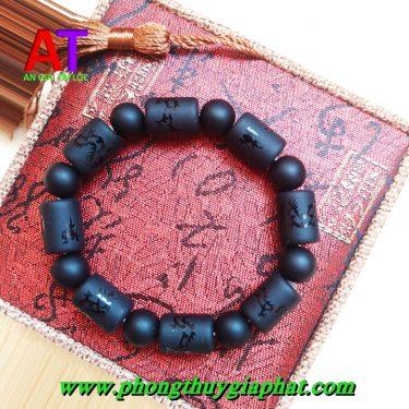Vòng đeo tay đá núi lửa đốt trúc (Obisidan )