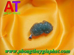 Mặt dây chuyền tỳ hưu cẩm thạch xanh