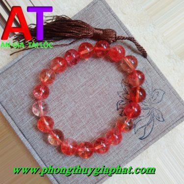 Vòng đeo tay thạch anh ưu linh đỏ