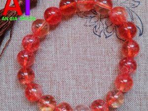Vòng đeo tay phong thủy thạch anh ưu linh đỏ