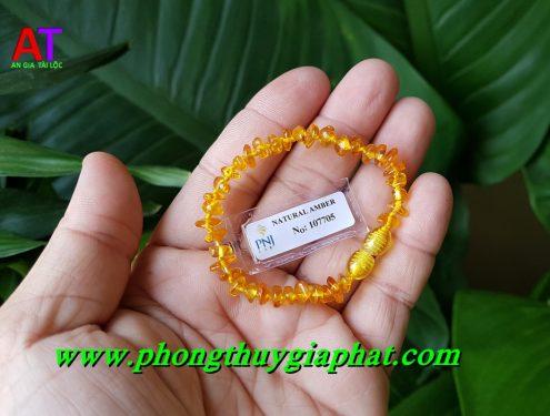 Vòng đeo tay em bé hổ phách 705