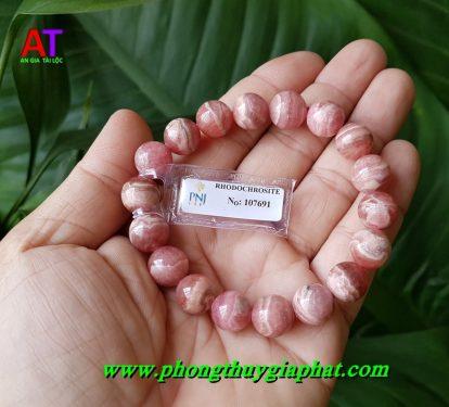 Vòng đeo tay đá đào hoa (RHODOCHROSITE)