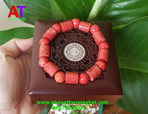 Vòng san hô đỏ đốt trúc