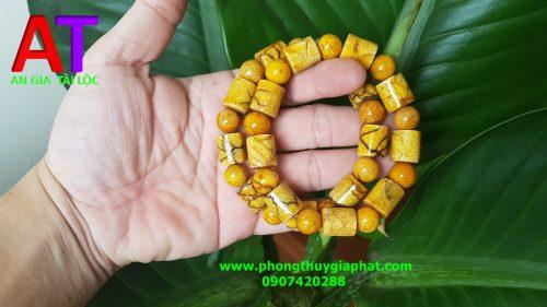 Vòng san hô vàng đốt trúc