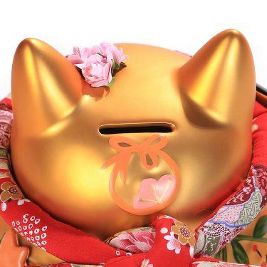 Mèo vàng may mắn Nhật Bản gốm sứ cao cấp