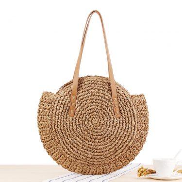 Túi cói tròn bãi biển