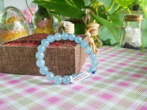 Vòng đeo tay đá aquamarine